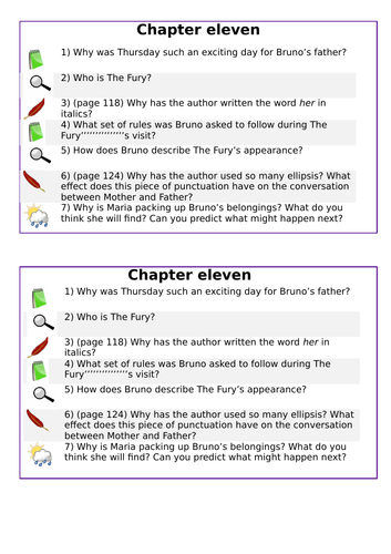 KS2 SATs- Teaching of Reading - Boy in Striped Pyjamas - Chapter 11
