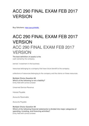 Final Exam NEW / HWSOLOUTIONS.com