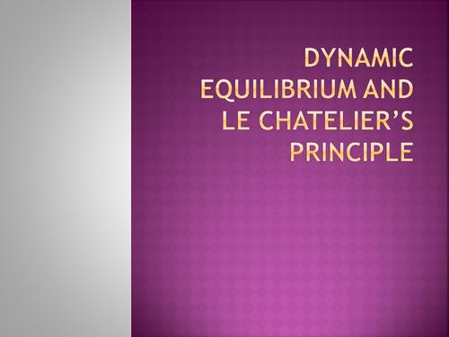 Dynamic equilibrium - Le Chatelier's Principle GCSE