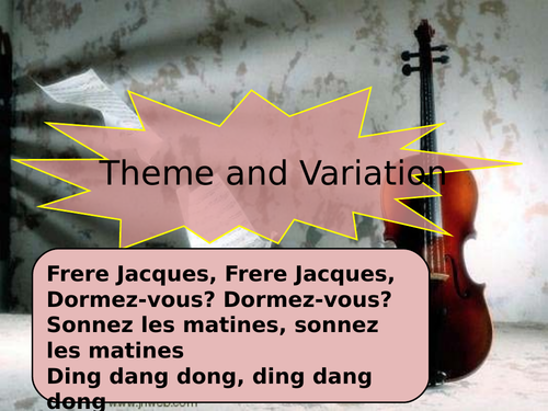 Theme and Variation listening exercise and introduction