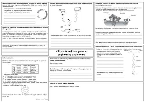 GCSE Biology revision mats