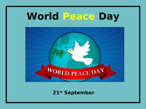 Assembly: World Peace Day 2020