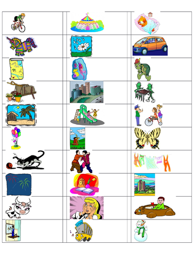 180 Picture and Word Prompts for Grade 3