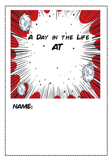 A day in the life of Comic strip and free writing activity
