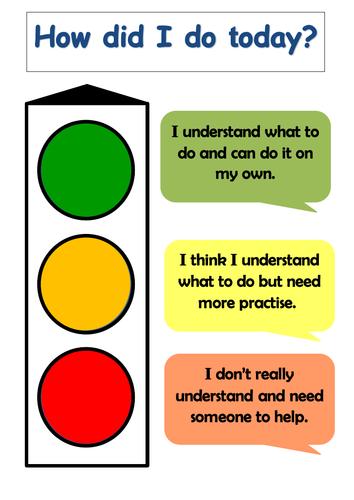 Self assessment Traffic light