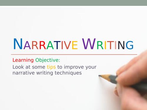 Narrative /Creative writing for GCSE