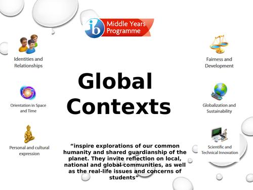 MYP Global Contexts