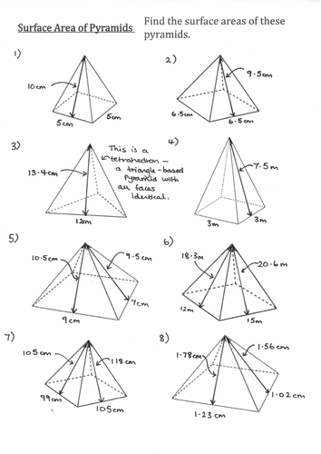 Surface Area Of Pyramids And Frustums No Pythagoras By Jvachhani