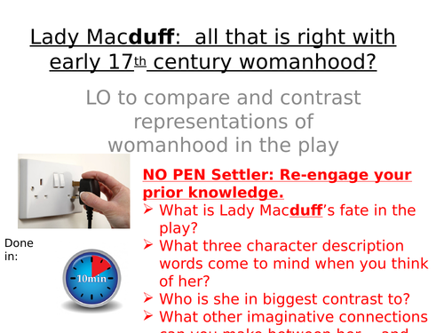 Macbeth Act 4 Scene 2 Lady Macduff: All that is right with Jacobean Womanhood?