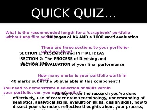 OCR DRAMA GCSE: Devising theatre Mock SOW