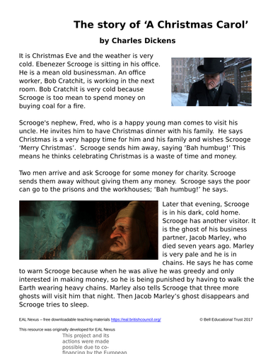 A Christmas Carol Summary.A Christmas Carol Plot Summary For Eal And Sen Students