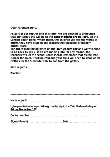 Tate Modern trip activity pack