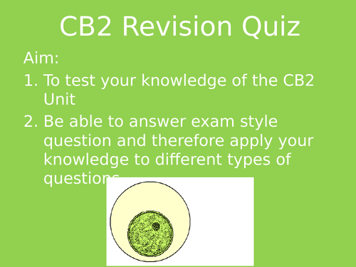 CB2 Revision Quiz