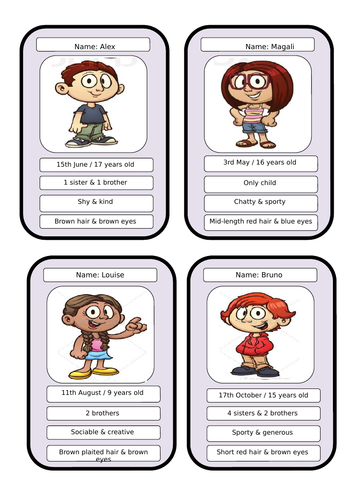 top trumps personality cards and grid french languages