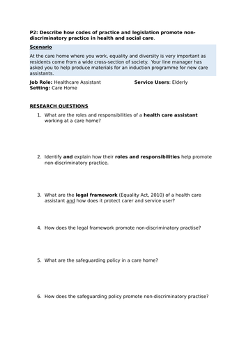 health and social care p2