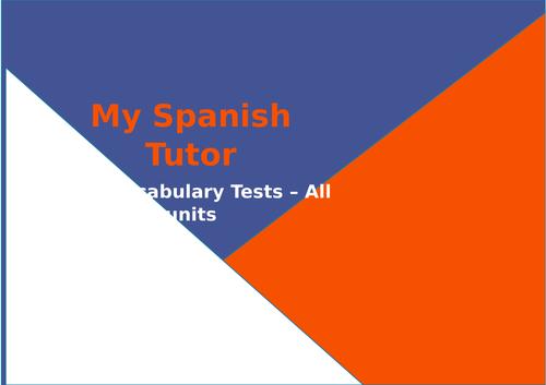 GCSE Spanish Vocabulary Tests - All Units