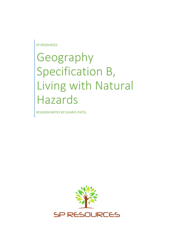 GCSE Geography - Living with Natural Hazards Revision notes