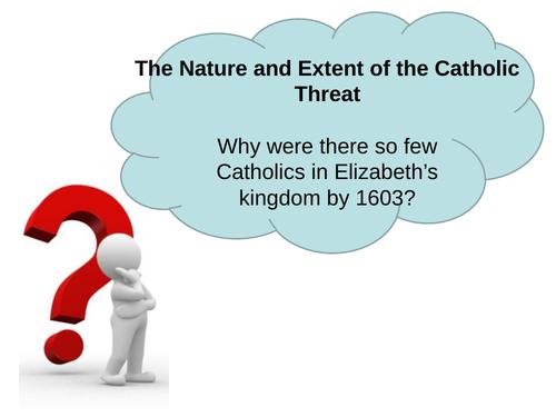 OCR B, SHP, The Elizabethans, Catholic Threat, 5 lesson PowerPoints for GCSE