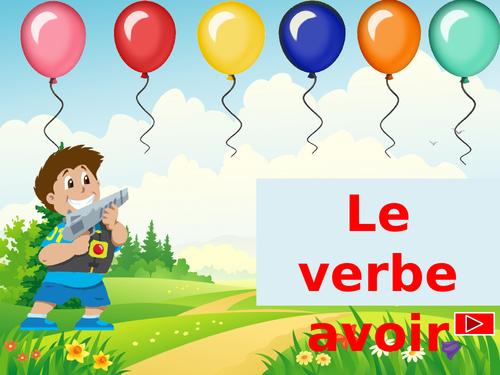 """Le verbe """"avoir"""" au Présent."""