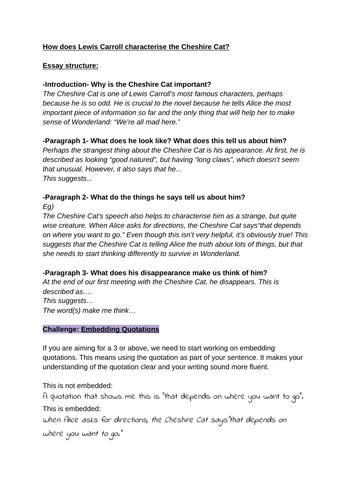 Alice in Wonderland Impressions Questions Worksheet Bundle