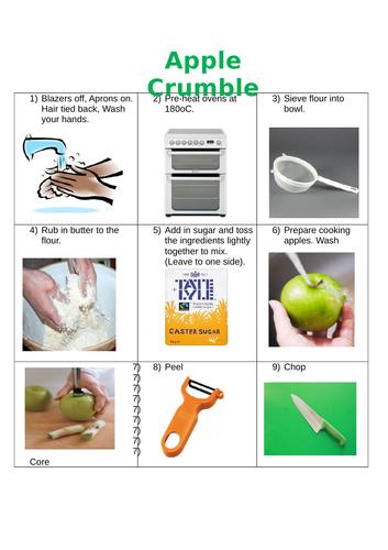 Apple crumble picture recipe