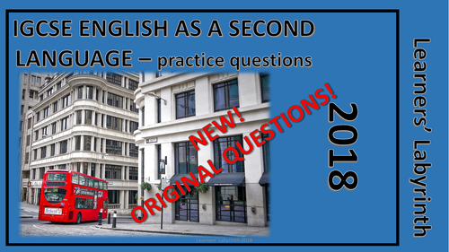 IGCSE English as a Second Language NEW practice questions