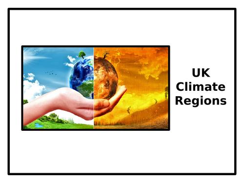 UK Climate Regions (PowerPoint & Worksheet)