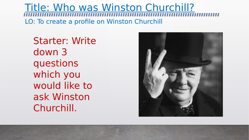 OCR A-Level History Unit Y113 - Lesson 3 - Churchill background