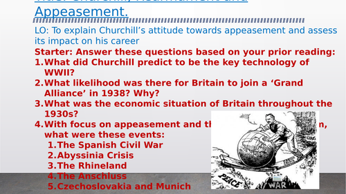 OCR A-Level History Unit Y113 - Lesson 8 - Appeasement