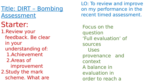 OCR A-Level History Unit Y113 - Lessons 19-20 - Churchill as Wartime Leader Assessment