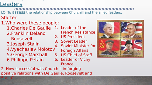 OCR A-Level History Unit Y113 - Lesson 21-22