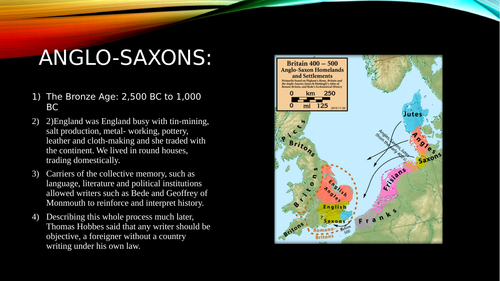 A comprehensive series of Powerpoint slides from covering the Anglo-Saxon period up to 1066.