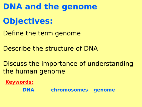 New AQA B6.3 (New Biology GCSE spec 4.6 - exams 2018) – DNA and the genome