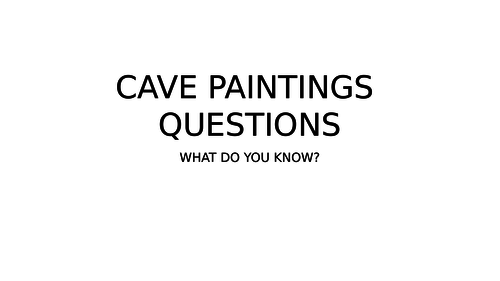 CAVE PAINTINGS - Complete Unit of Work