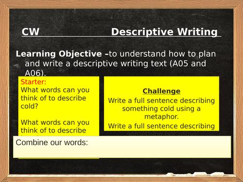 Descriptive Writing (Hot Springs)  - AQA Paper 1, Q5