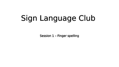 British Sign Language - alphabet and names