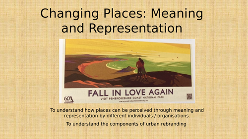 Changing places - Lesson 2 - Meaning and Representation