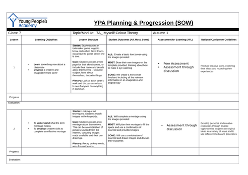 Sheme of Work_Planning and Progression for Autumn 1_ Year 7