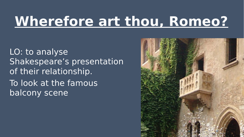 Romeo and Juliet balcony scene (act 2 scene 2