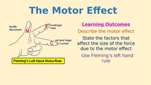 AQA physics 9-1 - 4.7.2.2. The Motor Effect