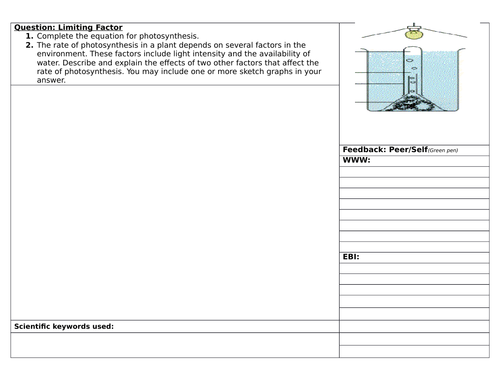 Structuring Feedback on Limiting Factors