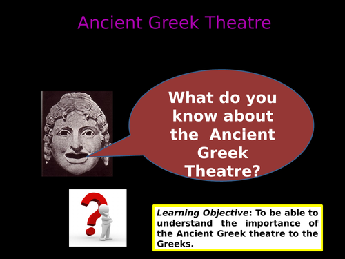 Introduction to the Greek theatre - tragedy and comedy