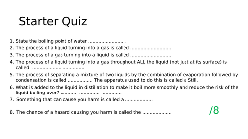 Distillation and Fractional Distillation - Chemistry Edexcel 9-1