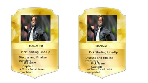 Fifa Ultimate Team Task Cards for Key Stage 3 Football Scheme of Work