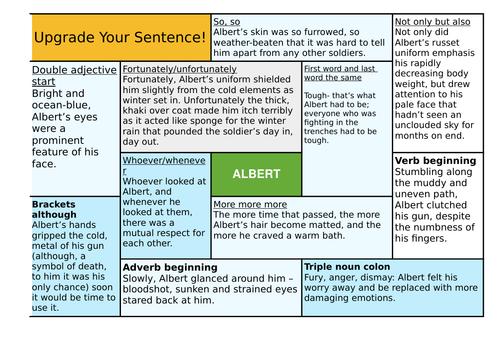DESCRIPTIVE WRITING - SENTENCE UPGRADES