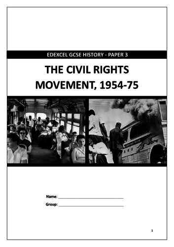 Edexcel GCSE 9-1 History: Civil Rights 1954-75 revision workbook