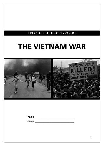 Edexcel GCSE 9-1 History: Vietnam War revision workbook