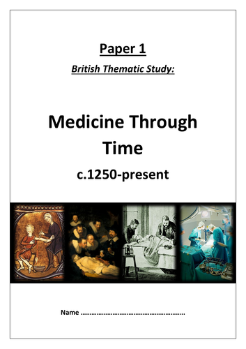 Edxecel GCSE 9-1 History: Medicine Through Time workbook (lower ability)