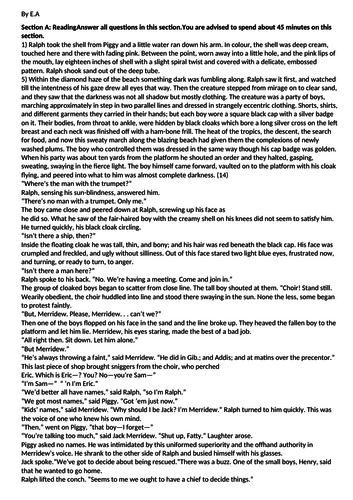 AQA GCSE English language paper 1 Lord of the Flies
