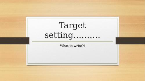Target setting powerpoint - Art